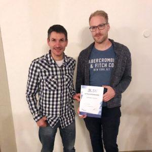 Zabelstein Runners BLSV-Urkunde, Tobias Reßmann und Lukas Melchior