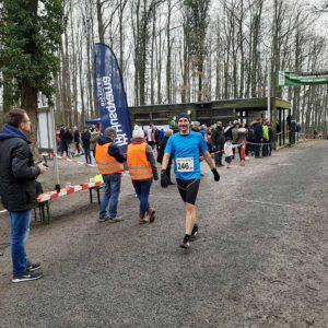 Wald- und Crosslauf in Schweinfurt, Februar 2020, Tobias Reßmann im Ziel